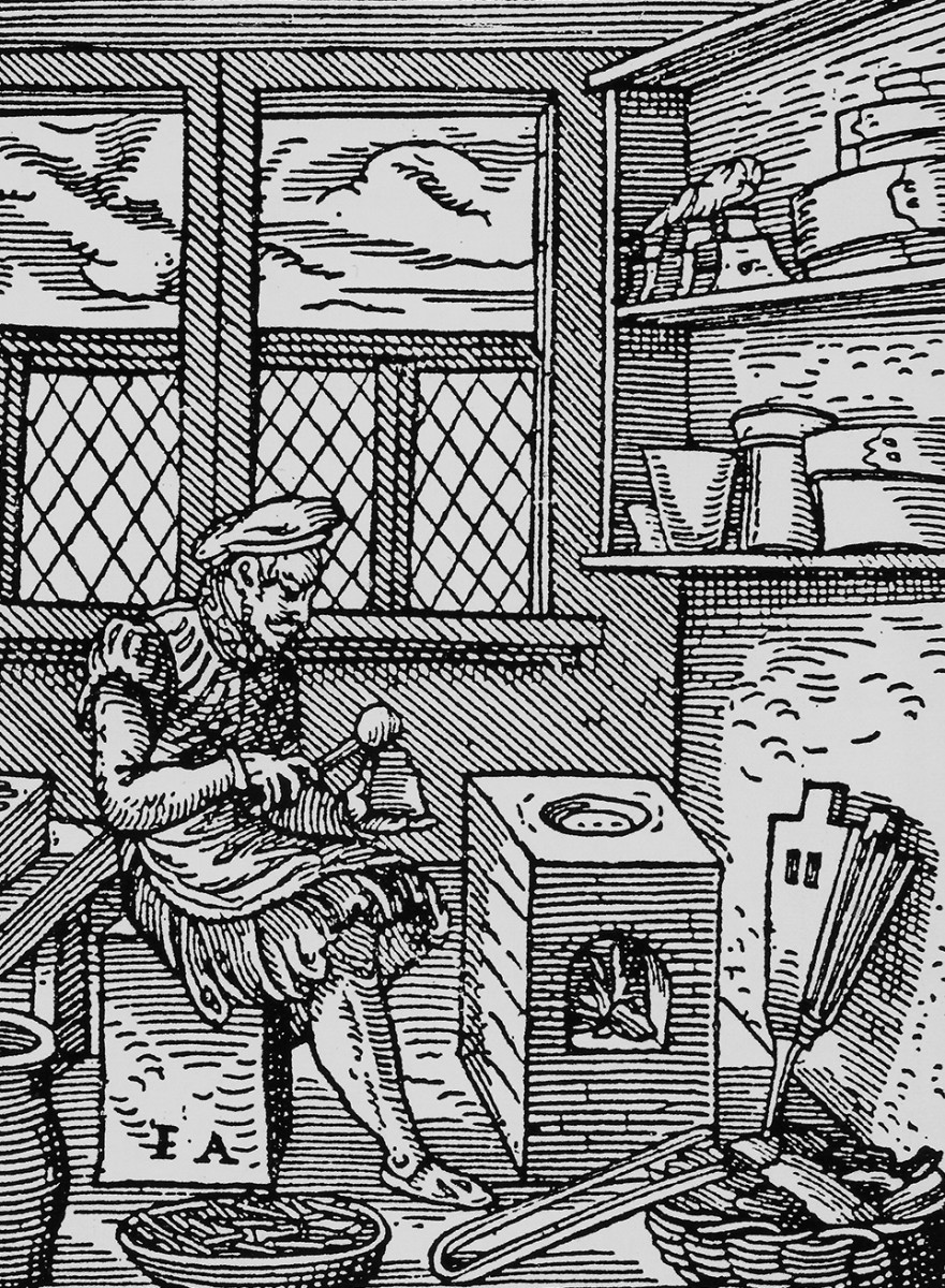 Fonditore di caratteri XVI sec. Illustrazione di Jost Amman, 1568.