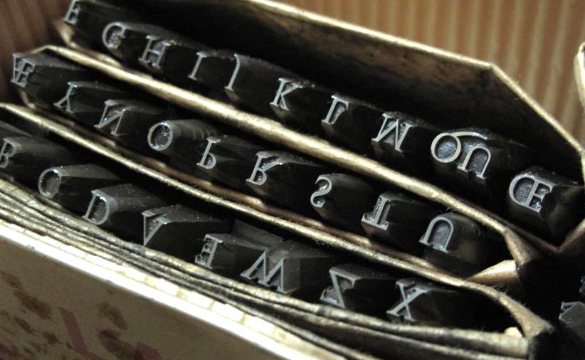 Punzoni tipografici. Foto Tipoteca Italiana Fondazione.